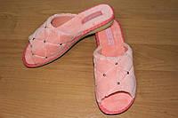 Женские домашние тапочки Белста с открытым носком утепленные махра р-р 36-40