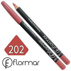 FlorMar - Карандаш для губ водостойкий Тон №202 rose natural матовый