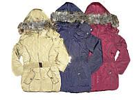 Куртка утепленная для девочки, размеры 104/110,  128/134, 140, Glo-Story, арт. GMA-6313