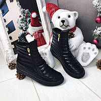Женские черные ботинки деми