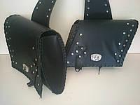 Кофры боковые портфели (багажник) черные косые комплект 2 шт. для Мотоцикла