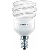 Лампа PHILIPS Econ Twister 12W WW E14 220-240V, энергосберегающая