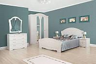Гарнитур для спальни Луиза белое золото, возможность покупки спальни поэлементно