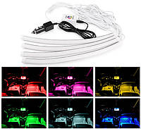 Подсветка салона авто RGB с управлением по Bluetooth