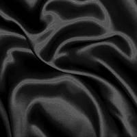 Атласная ткань - цвет черный