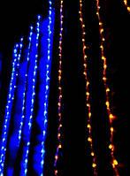 """Гирлянда LED штора """"Флаг Украины"""" (1,5*1,4 м)"""