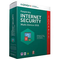 Антивирусная программа Kaspersky Internet Security 2016 Box для 2+1 ПК, на 1 год