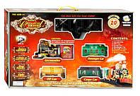 Железная дорога 2417 (8) свет, музыка, дым, 20 деталей, батарейках, в коробке