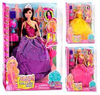 Кукла LH 037-1-2-3 (48/2) с аксессуарами, 3 вида, в коробке