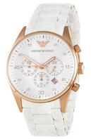Часы женские наручные Emporio Armani Gold-White Silicone 2012-0024 ААА copy SK