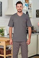 Пижама мужская футболка и штаны 48 52р хлопок Regina 492 Польша