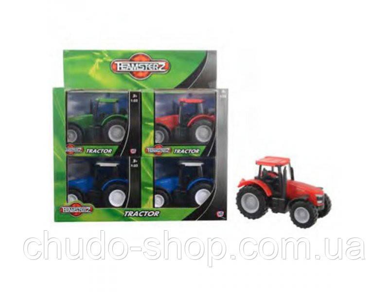 Трактор 1372432 (48шт) 16-8-10см, в кор-ке 17,5-13,5-9см, 8шт(3 цвета) в дисплеее, 36-28-18,5см