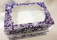 Коробочка для подарков новогодняя с окном