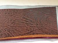 Винилискожа для обивки дверей и мебели тисненный 1,4м коричневый