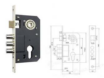 Корпус замка FZB 10-12 (9036-3R) 62 мм CR (PC)