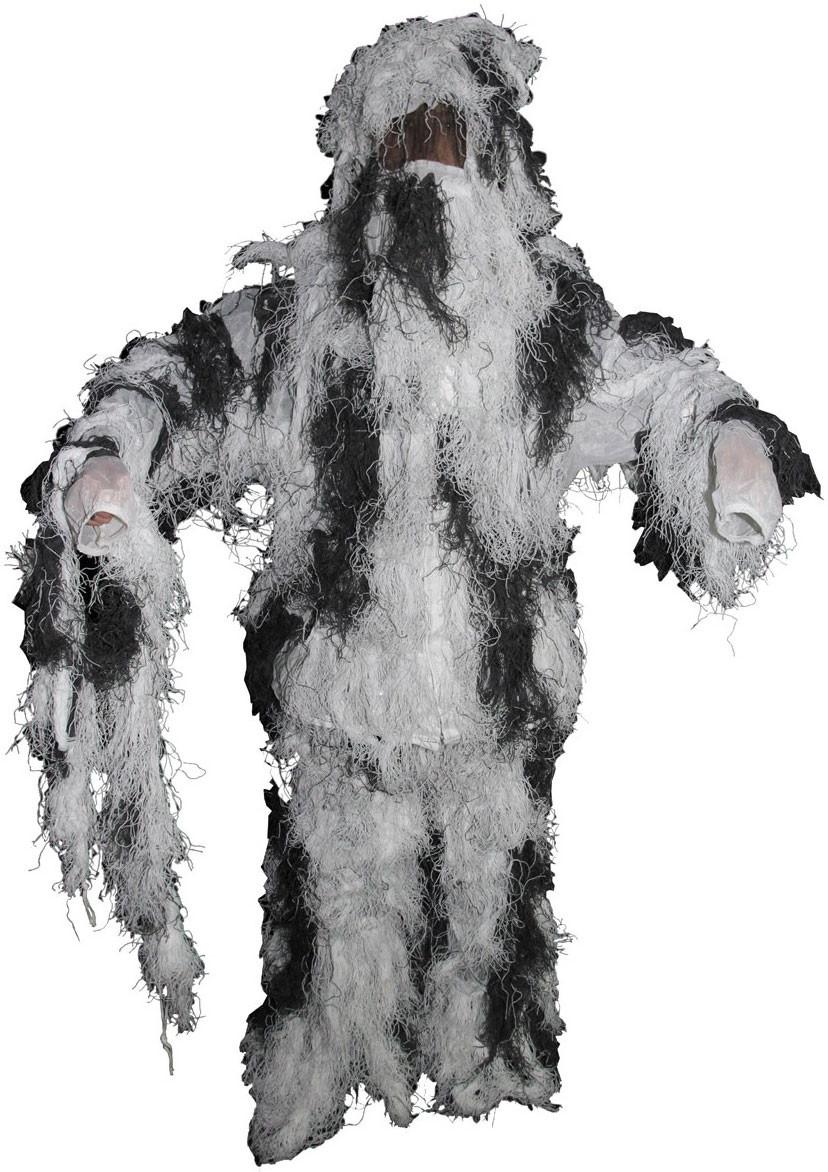 Вогнестійкий маскувальний костюм MFH Ghillie Suit сніговий камуфляж 07703L