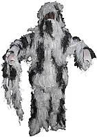 Огнестойкий маскировочный костюм MFH Ghillie Suit снежный камуфляж 07703L