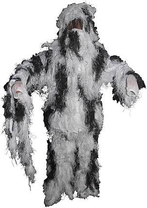 Вогнестійкий маскувальний костюм MFH Ghillie Suit сніговий камуфляж 07703L, фото 2