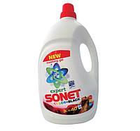 Гель для стирки 'Sonet Black Color', 3L, для стирки тонких шерстяных, шелковых и черных вещей для любых типов тканей