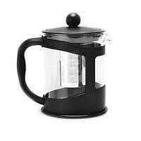 Чайник заварочный Berghoff в черной подставке 0,6 л термостойкое боросиликатное стекло