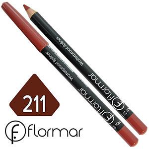 FlorMar - Карандаш для губ водостойкий Тон №211 red berry матовый
