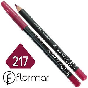 FlorMar - Карандаш для губ водостойкий Тон №217 pink plum матовый