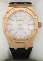 Часы мужские наручные Audemars Piguet ROYAL OAK Gold/White 4102 ААА copy SK (реплика)