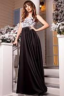 Платье в пол Топ Гипюр Атласная Юбка Модное Нарядное Длинное Вечернее Платье