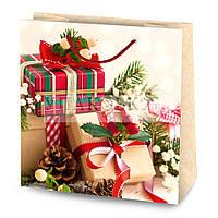 Новогодний бумажный подарочный пакет ML-3 - АССОРТИ