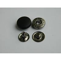 Кнопка АЛЬФА с пластиковой шляпкой 17 мм - белая, черная