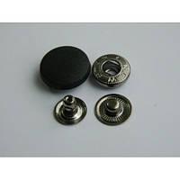 Кнопка АЛЬФА с пластиковой шляпкой 20 мм - белая, черная