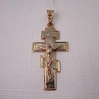 Золотой Крест из красного и белого золота 585*, фото 1