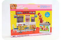 Детская игрушечная мебель для кукол Барби Кафе Happy time 8802. Обустройте кукольный домик