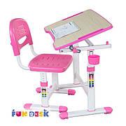 Комплект парта и стул-трансформеры FunDesk Piccolino II Pink