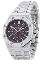 Часы мужские наручные Audemars Piguet Royal Oak AA Silver-Brown SM-1041-0012 ААА copy SK (реплика)