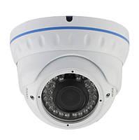 Камера наружная AHD Green Vision GV-031-GHD-E-DOS24V-30, White, 1/2.9' Sony, 1080p / 25 fps, f=2.8-12 mm, 0.01 Lux, ИК подсветка до 30 м, IP66, 800 г