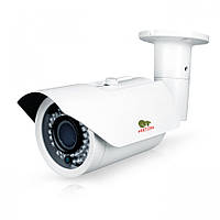 Камера наружная AHD Partizan COD-VF3CH 3.3 FullHD, White, 1/2.8' Sony Exmor, 1080p / 25 fps, f=2.8-12 mm, 0.001 Lux, ИК подсветка до 40 м, IP66, 750 г