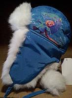 Детская шапка -ушанка, плащевка