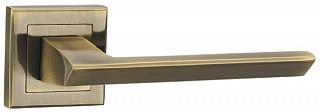 Ручка дверная на раздельном основании Punto - Blade QL ABG-6 (бронза зеленая)