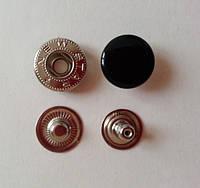 Кнопка АЛЬФА - 15 мм эмаль № 322 черная