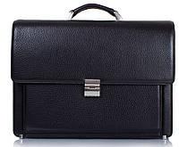 Классический мужской кожаный портфель KARYA (КАРИЯ) SHI0666-45, черный