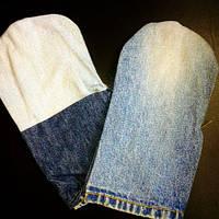 Рукавицы рабочие джинс с двойным налодонником