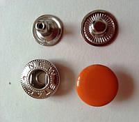 Кнопка АЛЬФА - 15 мм эмаль № 158 оранжевая