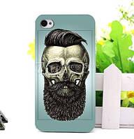 Силиконовый чехол панель накладка с принтом для Iphone 7 Plus Череп с бородой
