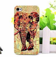 Силиконовый чехол панель накладка с принтом для Iphone 7 Plus Красный слон