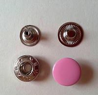 Кнопка АЛЬФА - 15 мм эмаль № 134 розовая