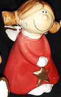 """Маленькая статуэтка из керамики """"Ангелочек со звездой"""", вис. 10 см., 65\60 (цена за 1 шт. + 5 гр.)"""