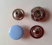 Кнопка АЛЬФА - 15 мм эмаль № 185 голубая