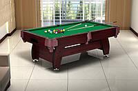 Бильярдный стол (VIP Extra 8FT) cherry-green с сетками