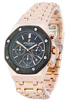 Часы мужские наручные Audemars Piguet Royal Oak AA Gold-Black-Black SM-1041-0016 AAA copy SK